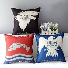 game of thrones home decor decorative cushion for sofa car chair throw pillows woven cusion