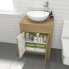 countertop bathroom sink units traditional bathroom furniture countertop basin unit oak effect