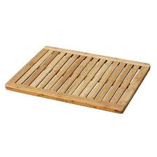ikea wooden bowl bathroom brown teak bath mat on cozy parkay floor and bowl sink
