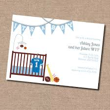 invites only sports theme baby shower invitation digital file only printing
