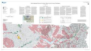 County Map Of Washington by Newly Published Rock Aggregate Resource Inventory Map Of Lewis