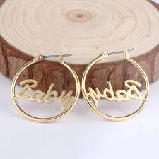 name hoop earrings duoying 25 mm custom name hoop earrings for etsy metal copper