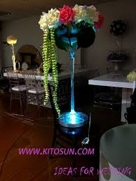 Eiffel Tower Vase With Flowers Wedding Centerpiece Lighting 8inch Spot Led Eiffel Tower Vases