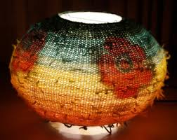 knitted lampshade etsy