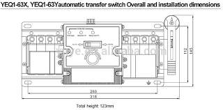 yeq1 63 mcb dual power automatic transfer switch automatic
