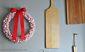 serendipity refined blog diy holiday peppermint wreath dollar