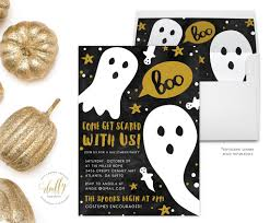 vintage inspired spider halloween party invitation 15