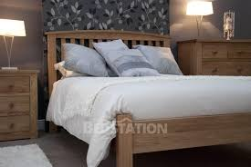 homestyle opus milano solid oak bed from the bed station
