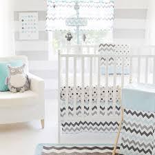 Gray Chevron Crib Bedding Chevron Baby Crib Bedding Set In Aqua By My Baby Sam