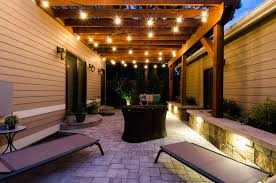 pergola lights landscape connection outdoor lighting in denver