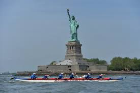 small boat big city kayaking from manhattan to the statue of