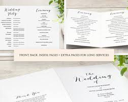 Wedding Booklet Templates Greenery Booklet Wedding Program Template Order Of Service