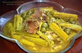 cuisiner des cardons tajine aux cardons et aux olives http petitsplaisirs org