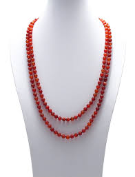 fashion jewelry red necklace images Genuine red carnelian 60 quot bead necklace with 9mm beads wholesale jpg