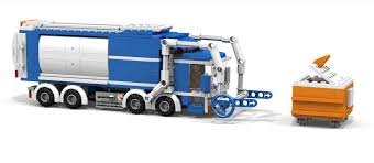 lego ideas lego city front loader garbage truck