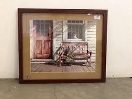 bh u0026g front porch framed art wood new vintage home interiors