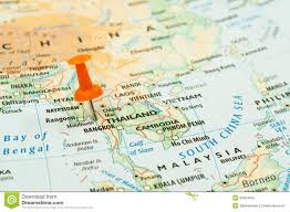 World Map Thailand by Thailand Map Pin Stock Photos Image 35804043