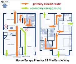 fire escape plans for homes home plan