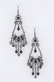 black chandelier earrings trendy fashion jewelry chandelier earrings by