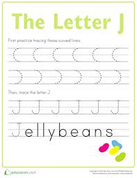 practice tracing the letter j worksheet education com