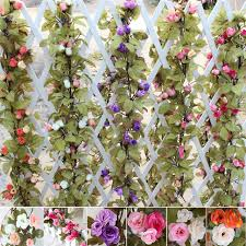 wholesale artificial flowers 230cm wedding decoration silk roses vine artificial