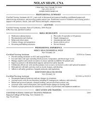 Cna Resume Sample For New Graduate Cna by Vibrant Sample Cna Resume 1 Unforgettable Nursing Aide And