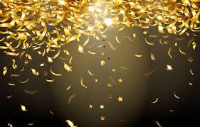 Gold Lights Wallpaper Glitter Lights Confetti Background Gold Sparkle
