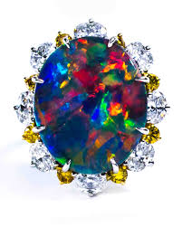 black opal engagement rings opal engagement rings that are oh so dreamy martha stewart weddings