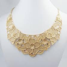 rose tone necklace images Hot sale gorgeous necklace pendant pierced rose flower gold chain jpg