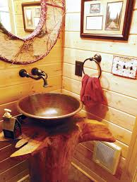 Houzz Rustic Bathrooms - log home bathroom photos houzz