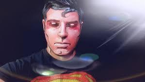 diy superman comic book look face paint tutorial halloween