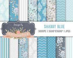 shabby chic blue etsy