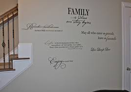 Quote Wall - Family room wall quotes