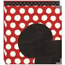 photo album binder scrapbook album binder snap 6x8 disney mickey mouse ear white