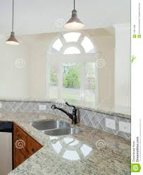 model luxury home interior kitchen counter royalty free stock