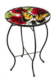amazon com new creative butterfly flutter glass patio table