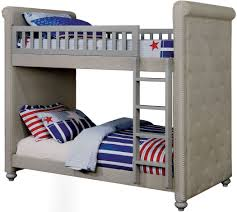 Crib Mattress Bunk Bed by Furniture Of America Sascha Upholstered Twin Twin Bunk Bed Kids
