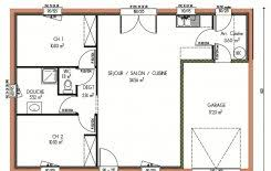 plan de maison plain pied 2 chambres plan et photos maison 2 chambres de 76 m