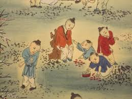 100 children asian scroll 1900s hand painted story line chinese