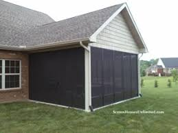 Garage With Screened Porch Screen Porch Kits Install On Awnings To Make A Porch Enclosure