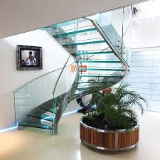 Helical Staircase Design Park Gate Large Helical Glass Staircase Canal Architectural