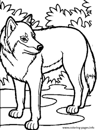 awesome wolf coloring pages printable