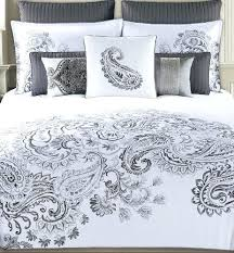 Paisley Duvet Cover Set Gray Paisley Duvet Covers Grey Paisley Quilt Cover Tahari Home