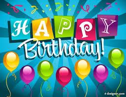 4 designer birthday cards 01 vector