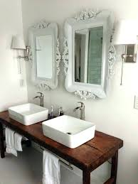 Bathroom Vanity Bowl Sink Bathroom Glass Vessel Sink And Waterfall Faucet Combo Forest