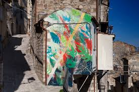 murals in medieval town of civitacampomarano italy by gola hundun recently gola hundun visited civitacampomarano almost abandoned town in the heart of molise region in italy to paint countless murals all over it