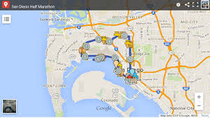 San Diego Map Neighborhoods by Half Marathon U2013 San Diego Half Marathon