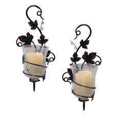 Flameless Candle Wall Sconce Set 2 Batteries And Things