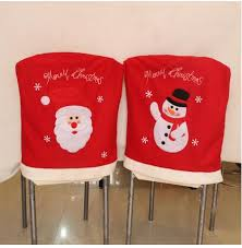 snowman chair covers christmas supplies dinner chair cover christmas decoraion santa