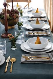 Design For Copper Flatware Ideas 10 Inviting Thanksgiving Table Setting Ideas